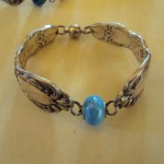 Silver Bracelet - Eric Christian - Pale Blue Murano Glass
