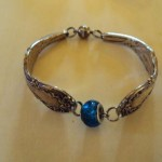 Silver Bracelet- Blue Murano Glass