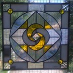 Stained Leaded Glass Mandela