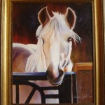 Oli on Canvas, Framed Horse