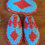 Beaded Shield & Moccasiins - Tiny